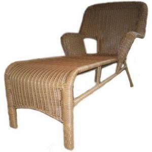 Cape Cod Nutmeg Resin Wicker Patio Chaise Lounge DISCONTINUED 011003 At The  Home Depot