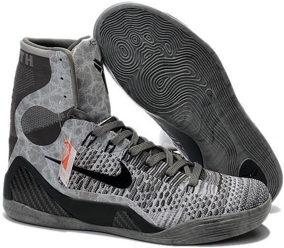 huge discount 26818 3c87c Kobe 9 Zoom High Grey Black