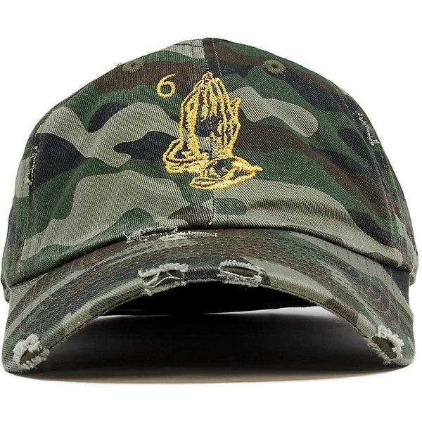 6 God Distressed Woodland Camo Dad Hat | 6 God Vintage Woodland Camo... ($35) ❤ liked on Polyvore featuring accessories, hats, embroidered ball caps, baseball cap, baseball cap hats, ball cap and camo baseball hats