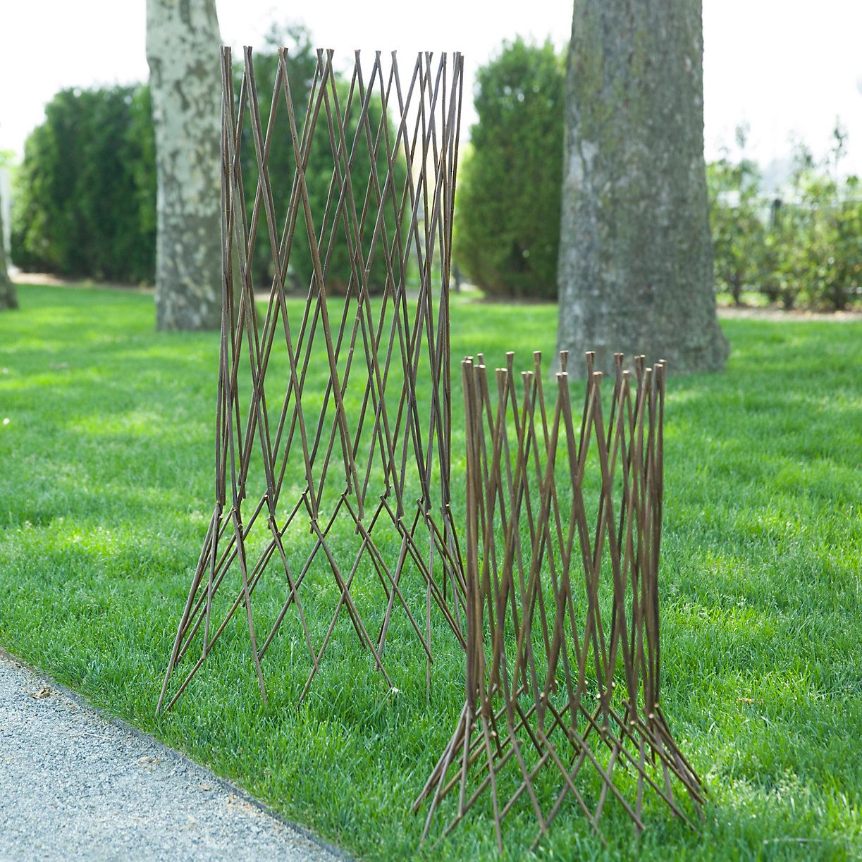 Expandable Willow Column In Garden Structures + Trellises At Terrain