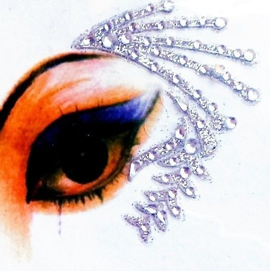 Eye corner face body decoration clear gems silver temporary crystal stickers in health