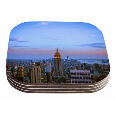 KESS InHouse Empire State of Mind by Juan Paolo Coaster