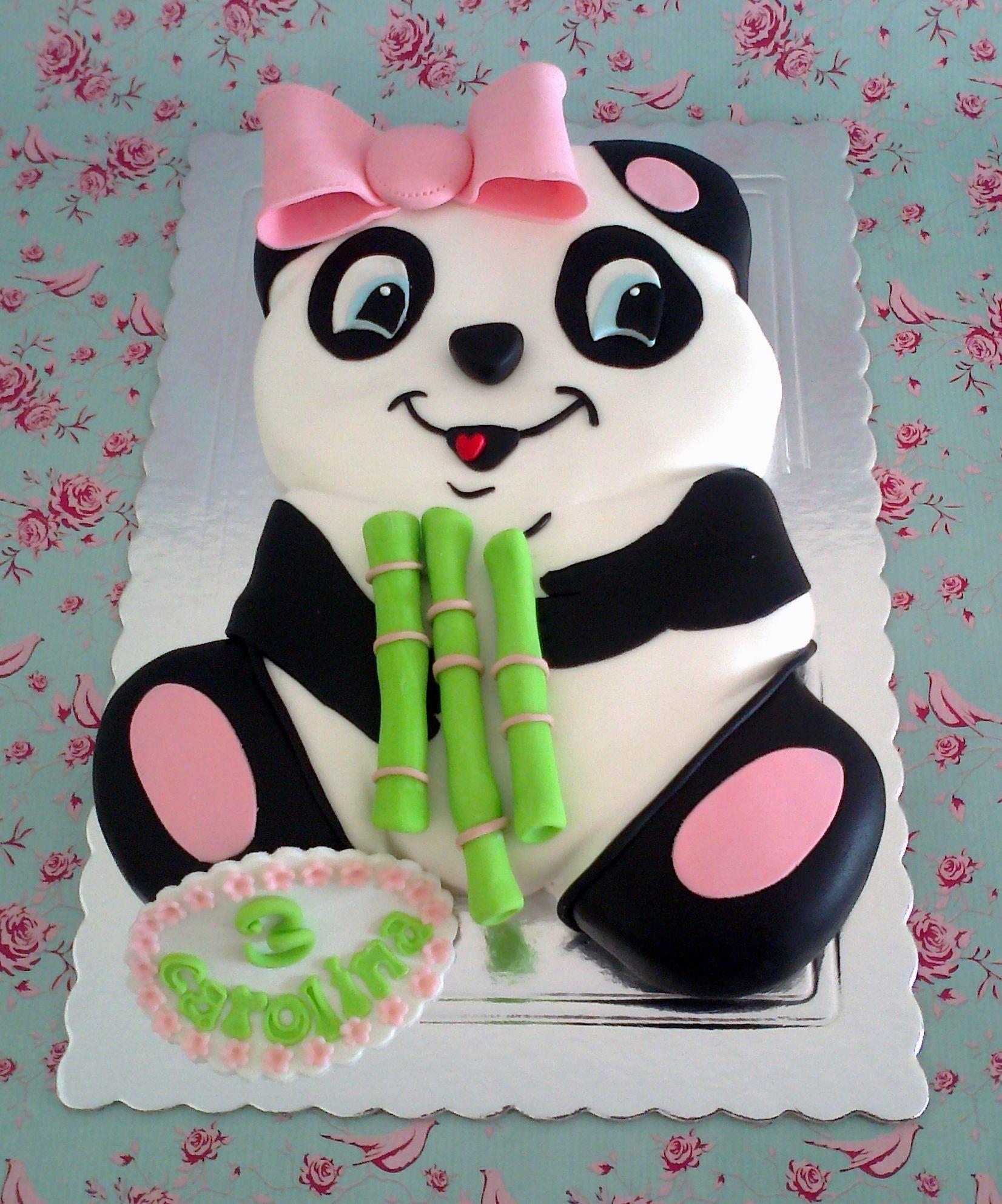 Fine Panda Cake To Cute Panda Birthday Cake Panda Cakes Panda Funny Birthday Cards Online Alyptdamsfinfo