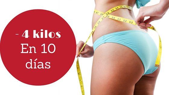 Perder peso rápido : - 4 kilos en 10 dias
