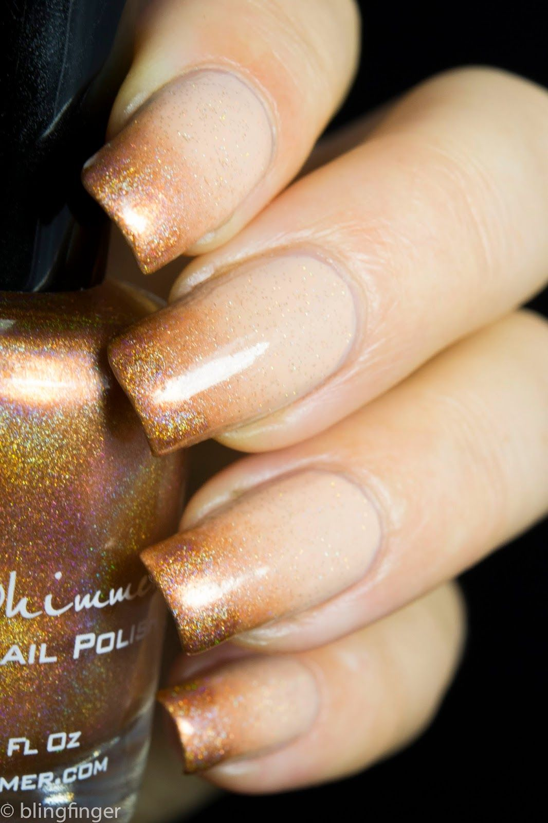 KBShimmer Run! It\'s The Coppers! (copper holo) Zoya Chantal (latte ...