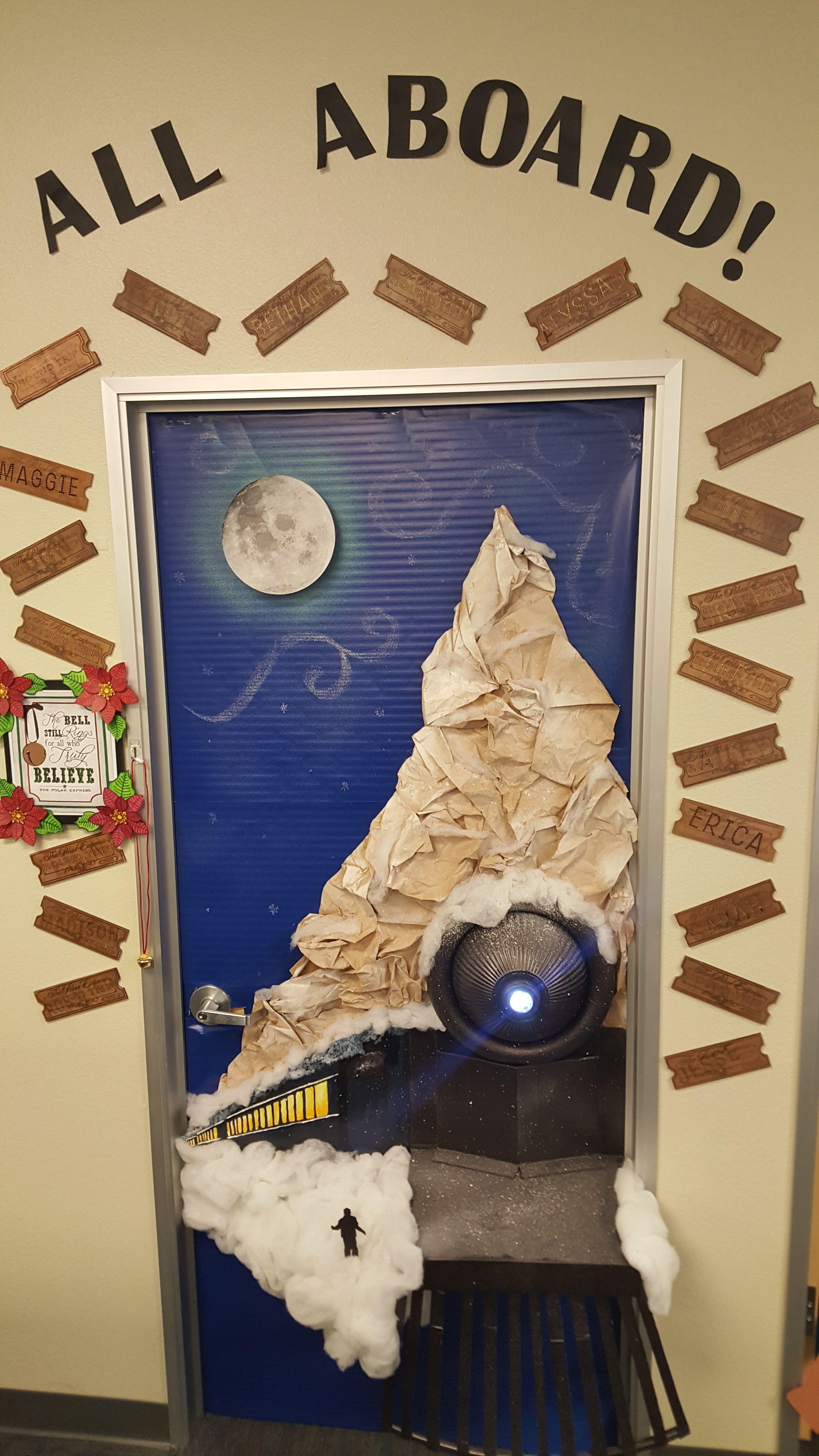 Polar Express Door Decor Christmas Classroom Door