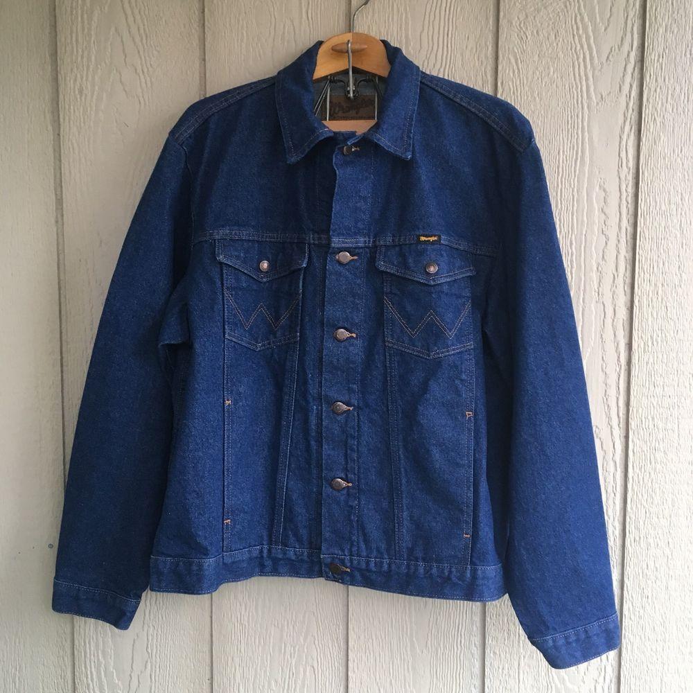 Wrangler Jean Jacket Authentic Western Trucker 74145pw Xl Wrangler Jeanjacket Wrangler Jeans Jackets Jean Jacket [ 1000 x 1000 Pixel ]