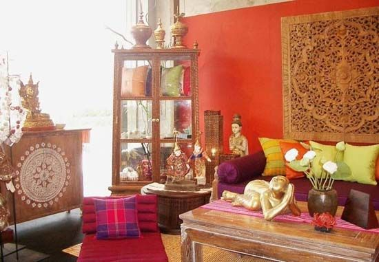 Ethnic Happy Colors In Living Room