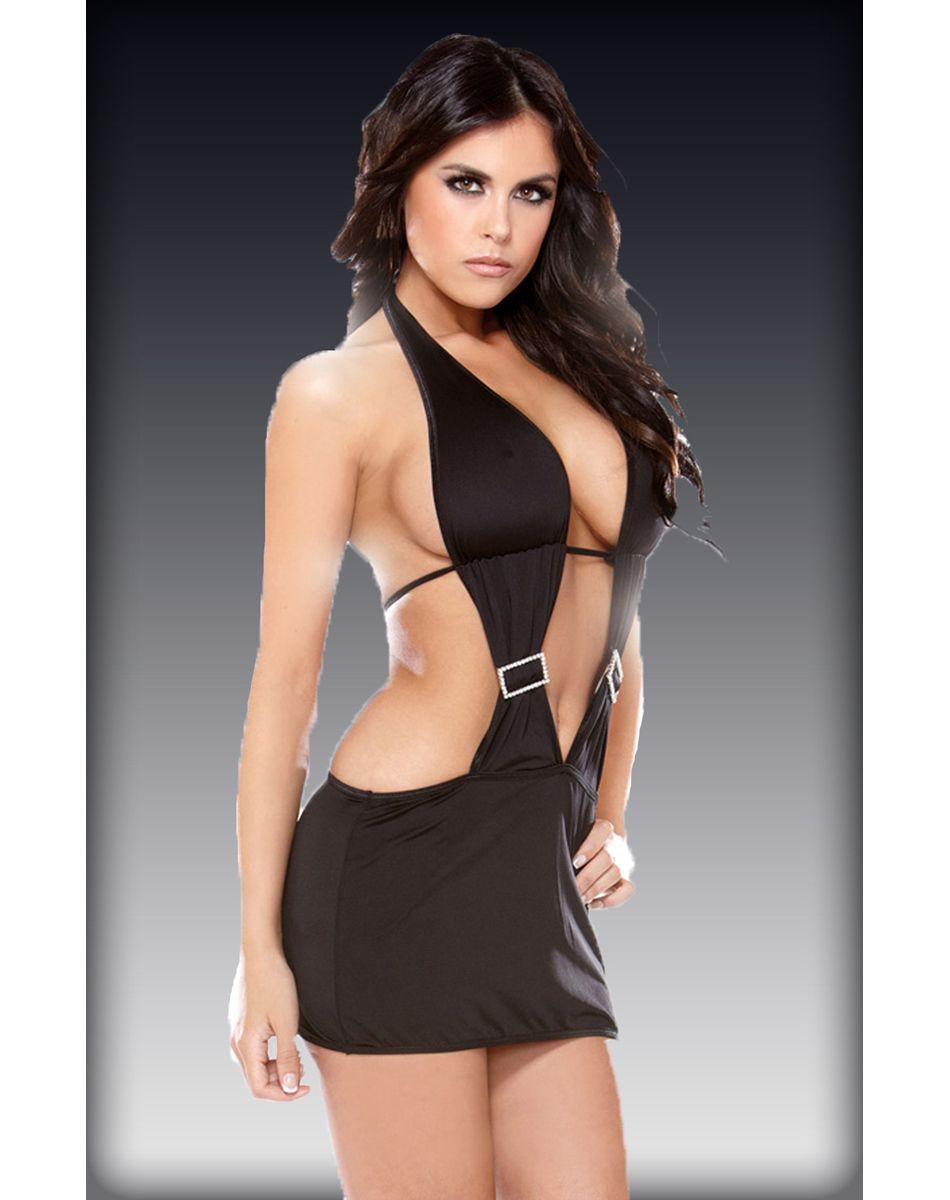 Sexy plunge dress