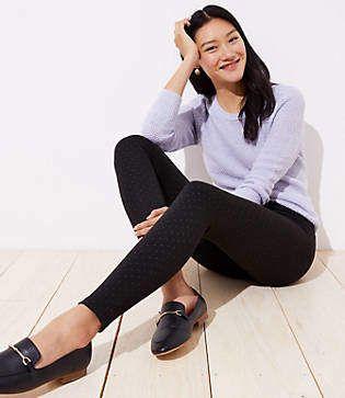 d1ac768668ea21 LOFT Petite Leggings in Pindot | Products | Petite leggings, Petite ...