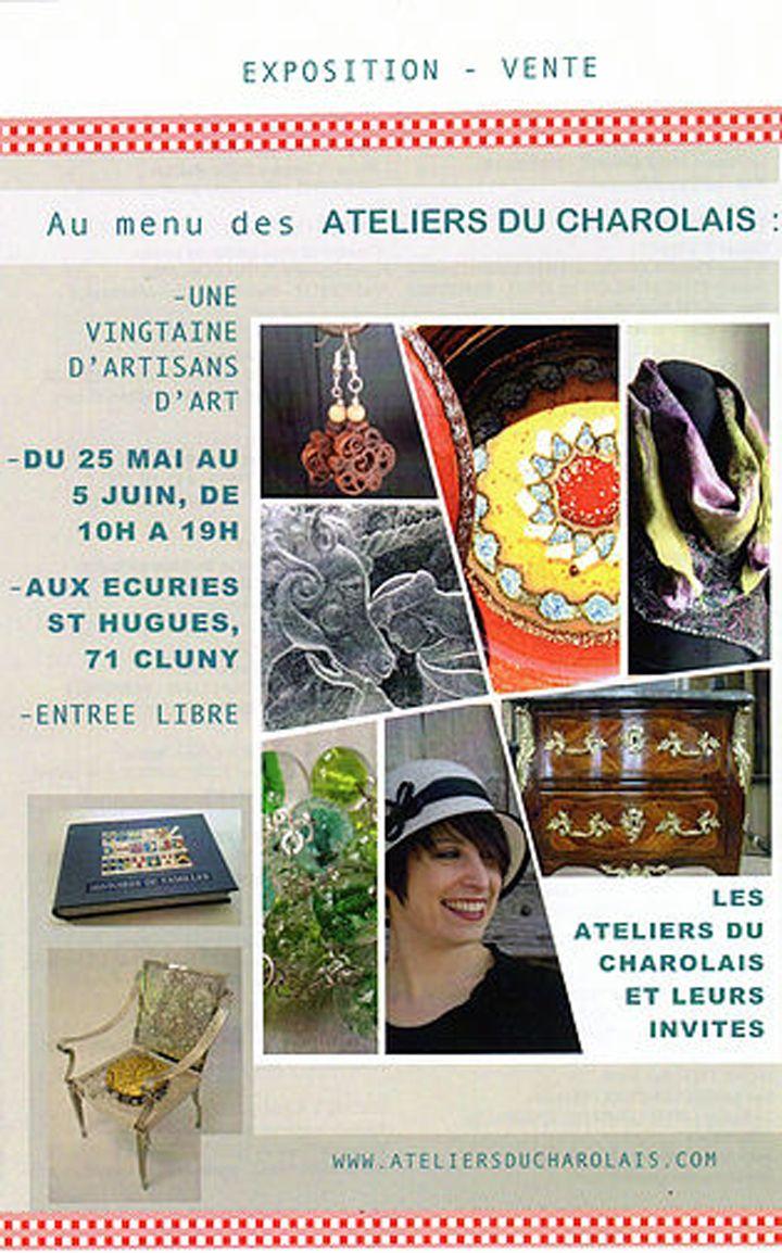 Expo-vente des ateliers du Charolais du 25 mai au 5 juin 2016 à Cluny : http://clun.yt/1Xp2oOX