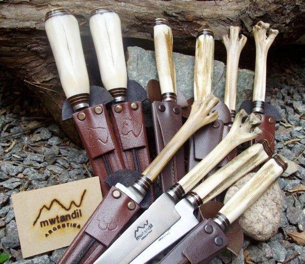 Cuchillos Con Empuñadura De Hueso Cuchillos Personalizados Feria Artesanal Cuchillos