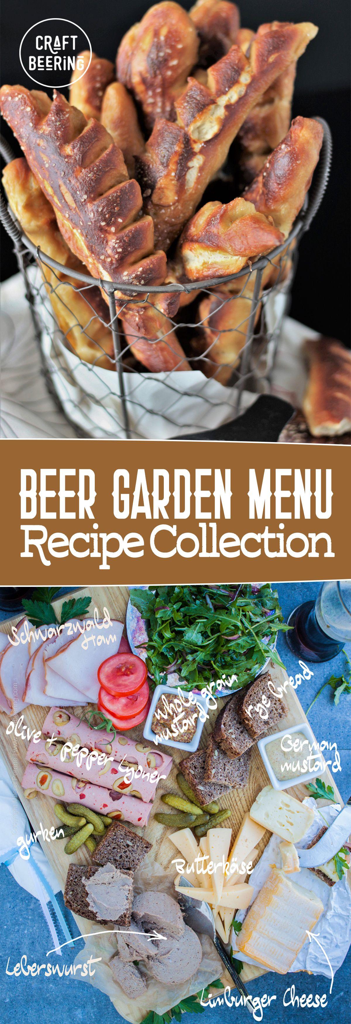 Beer Garden Menu Food, Beer garden, Cooking with beer