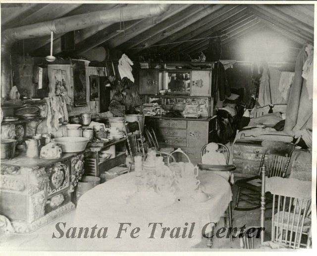 Interior View Of Sod House Ford County Pioneer House Dugout