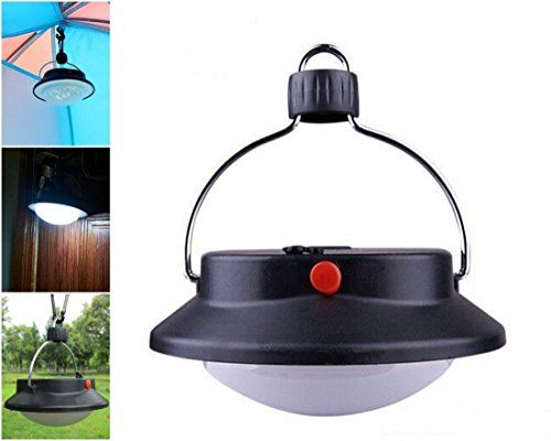 1 Pc Overwhelming Modern LED Nightlight Fishing Picnic Lamp Umbrella Camping Portable Hiking Light Color Black