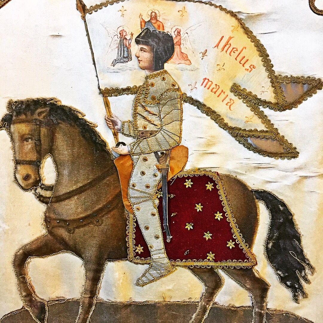 30 mai - sainte Jeanne d'Arc, patronne secondaire de la France, priez pour  nous ! Bannière, cathédrale de Laon, Picardie. | Saints, Art, Painting