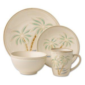 Pfaltzgraff Palm Dinnerware - Set of 16