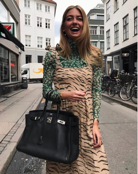 Ganni street style   Emili Sindlev   Whitman Chiffon Dress