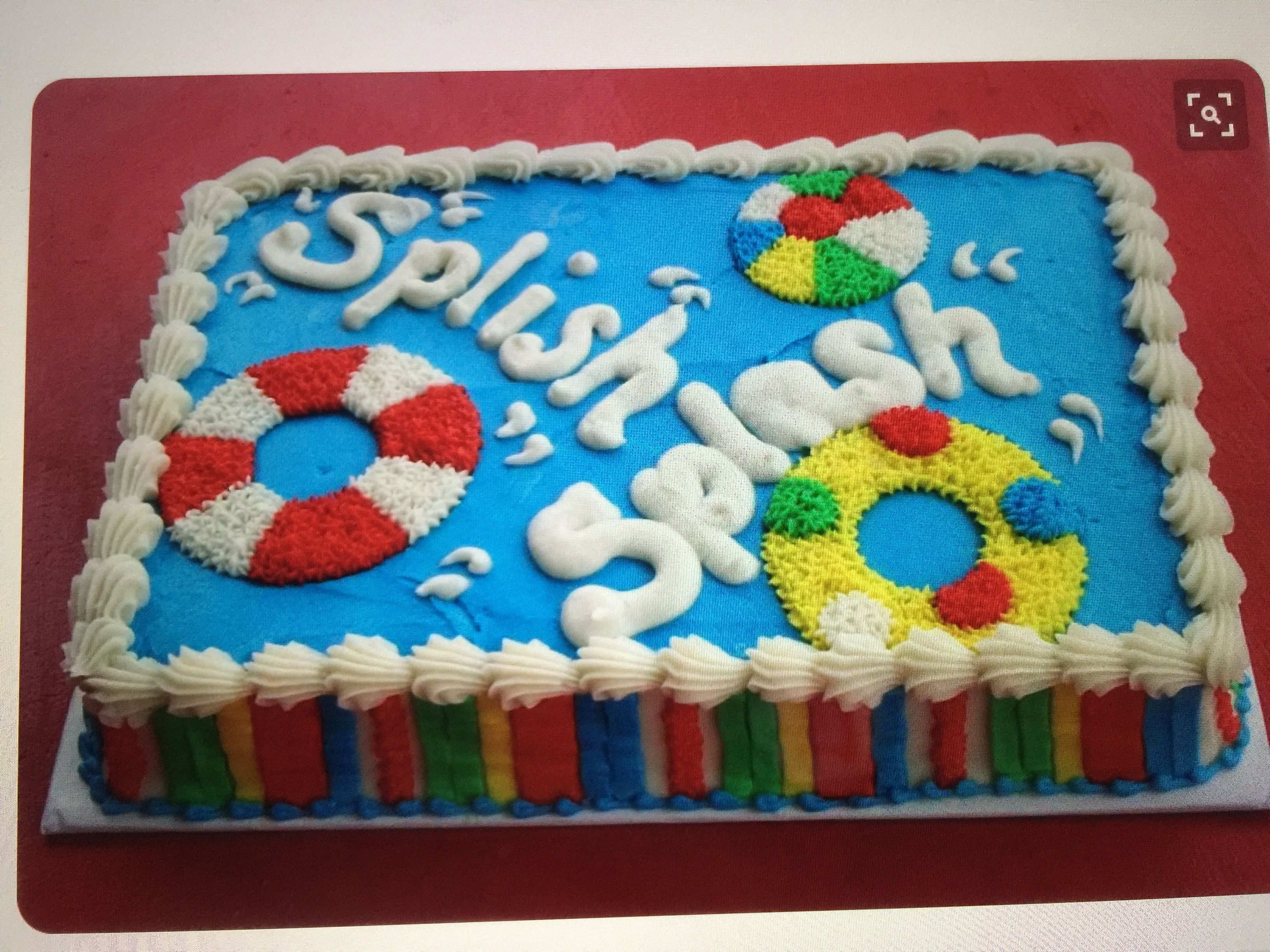 Summertime Pool Party Sheet Cake In Buttercream With Images