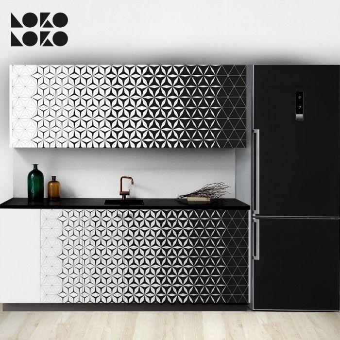 Vinilo para muebles de hexágonos abstractos | Muebles de cocina ...