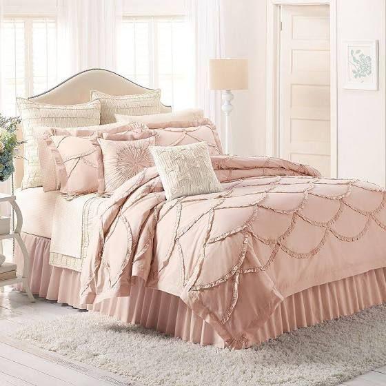 Best Blush Pink Full Bed Comforter Set Bed Linen Sets In 2019 400 x 300