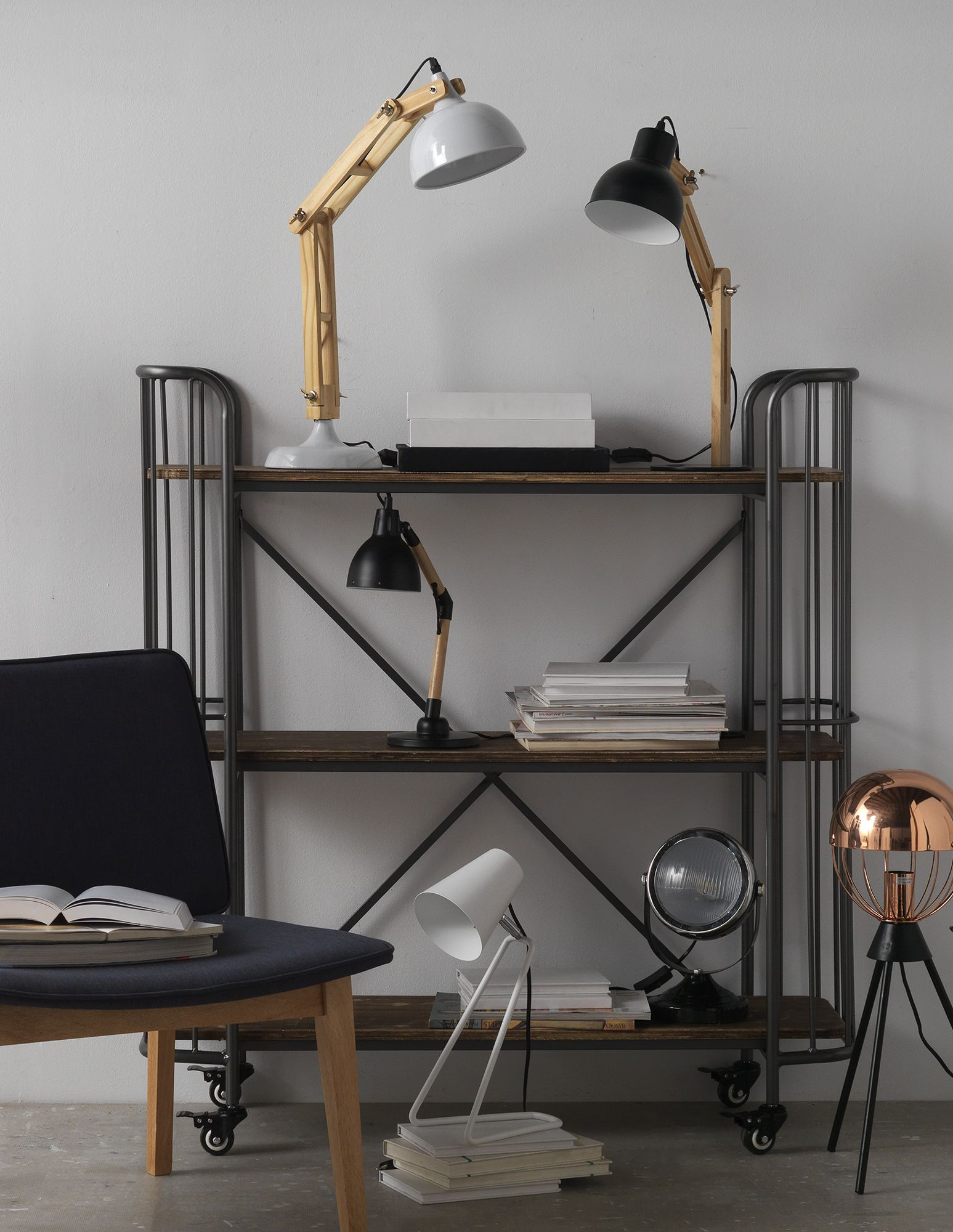 Metal Bookcase with Wheels | Style: Industrial | Pinterest | Vitrine ...
