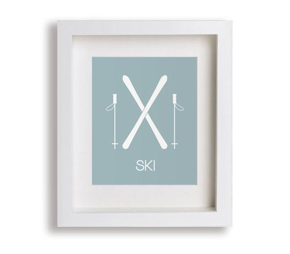 Ski Kids Art Print