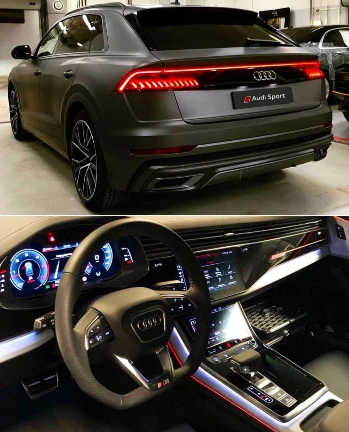 Audi Q8 Matte Black Beautiful Inside Out Black Audi Audi Audi Cars