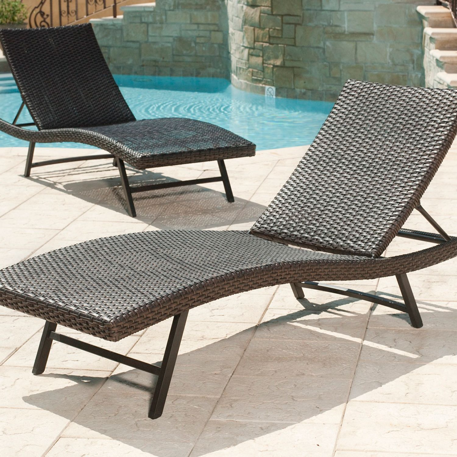 Members Mark Agio Heritage Woven Chaise Lounge  Pack Patio