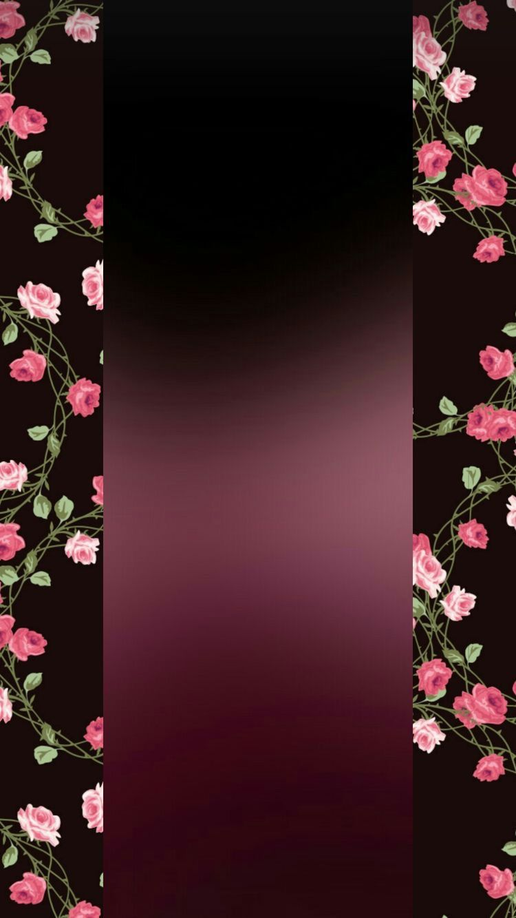 Wallpaper By Artist Unknown Pink And Black Wallpaper Pink Flowers Wallpaper Black Wallpaper