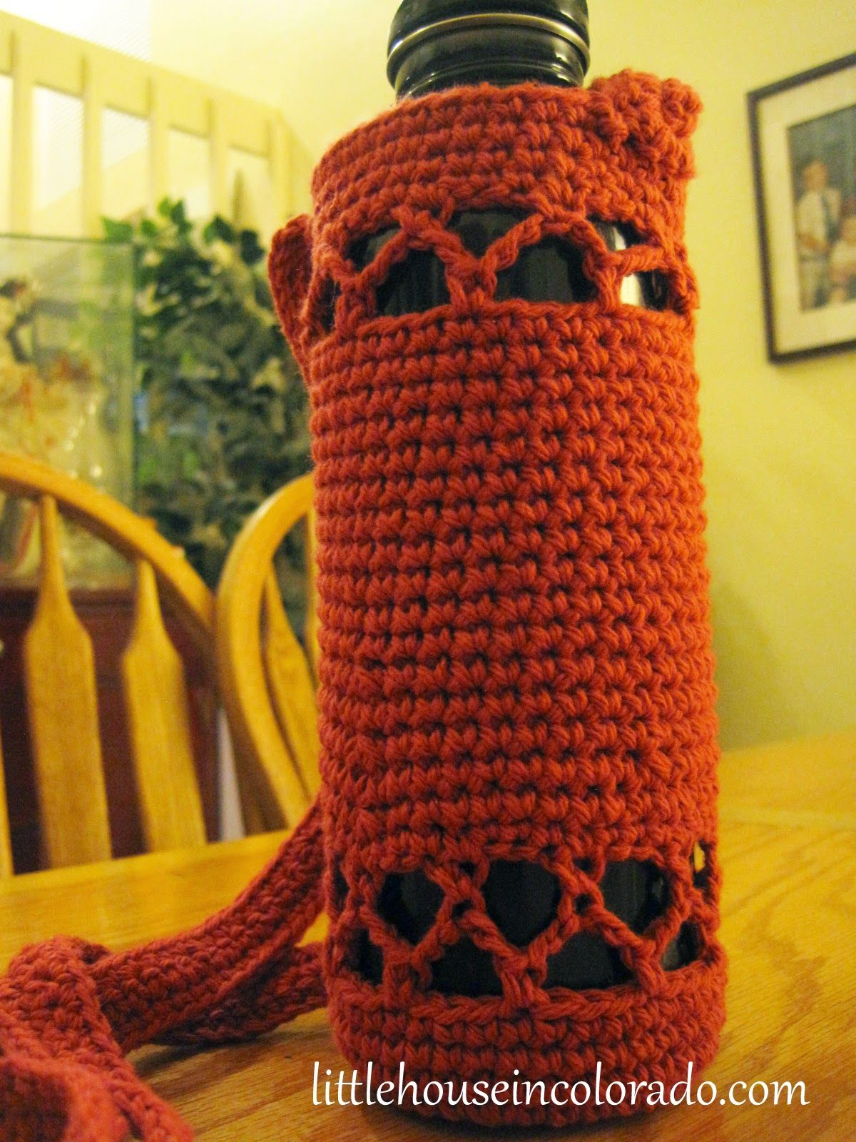 Little house in colorado pattern for crochet water bottle holders little house in colorado pattern for crochet water bottle holders bankloansurffo Choice Image