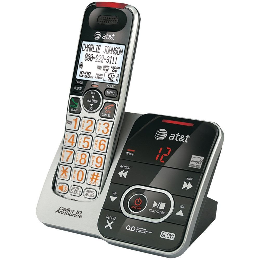 Att Dect On Cordless Phone System With Digital Answering Caller Id