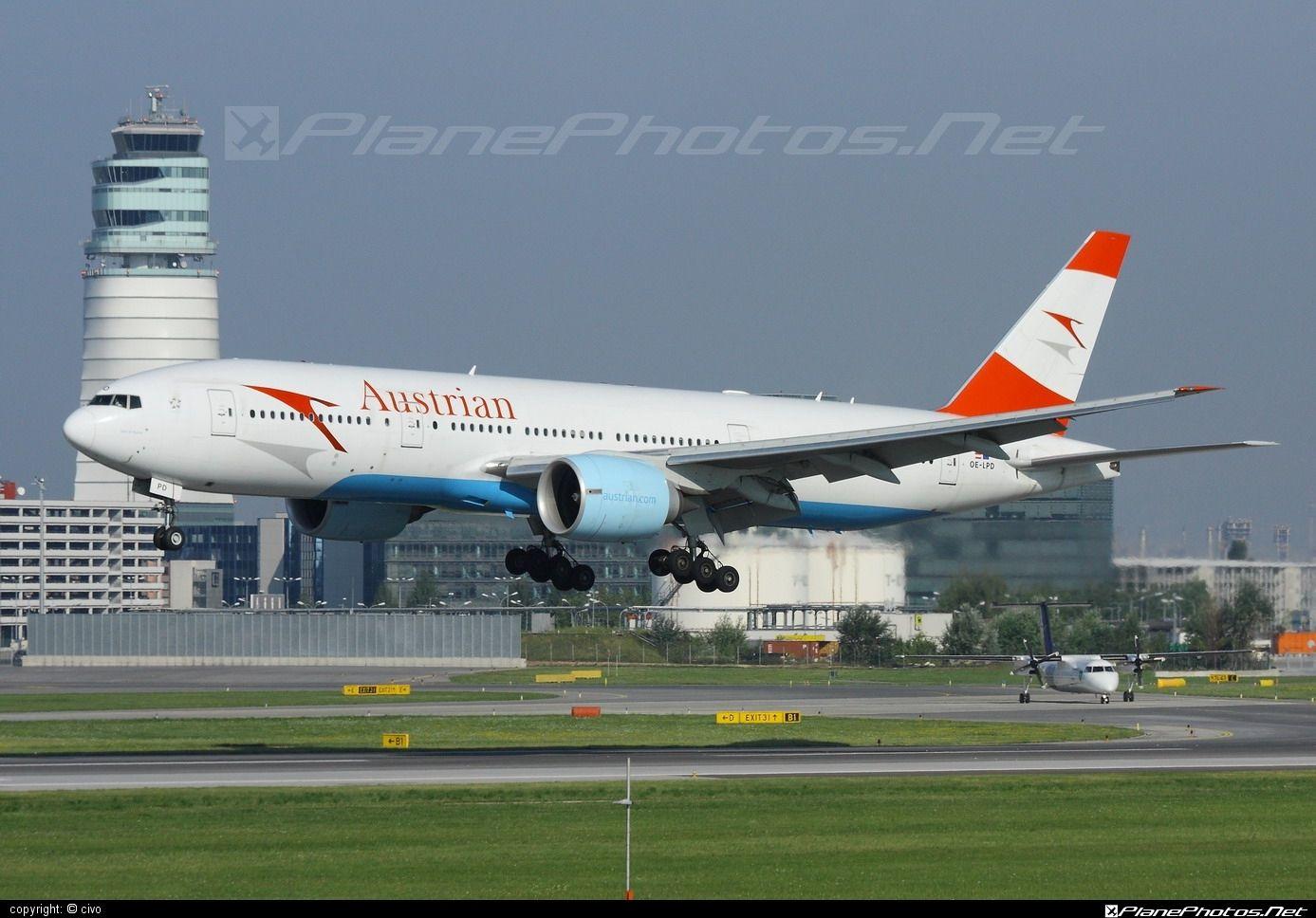 Boeing 777 200er Oe Lpd Austrian Airlines Vienna Schwechat Boeing 777 Boeing Austrian