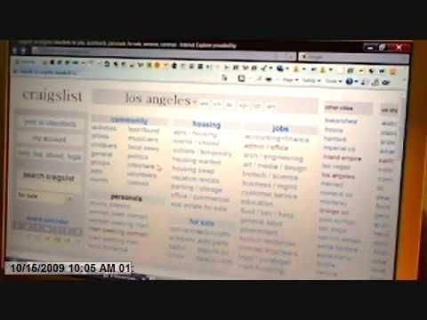 Using Craigslist Com How To Use Craigslist Com Instructional Video Instructional Video Instruction Being Used