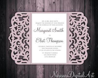 Cricut · Love Tree Wedding Invitation ...