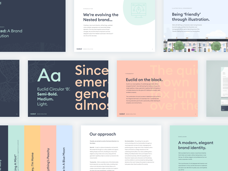 Nested Brand Refresh | Color | Brand icon, Brand guide, Branding design
