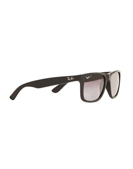 Ray-Ban Polarized Justin Sunglasses Large RB4165 622 T3 Black   Ray ... 77c36e39d3