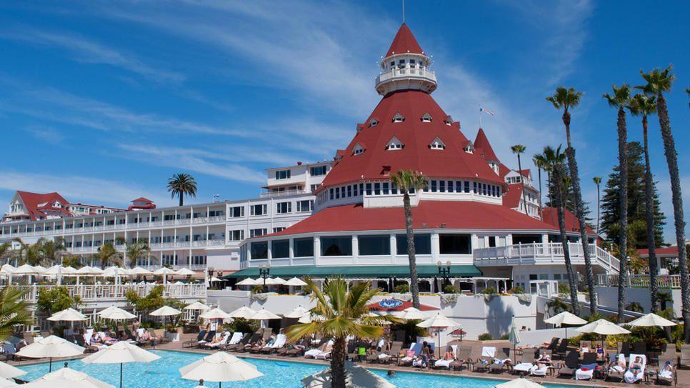 Hotel del coronado san diego california surfing and