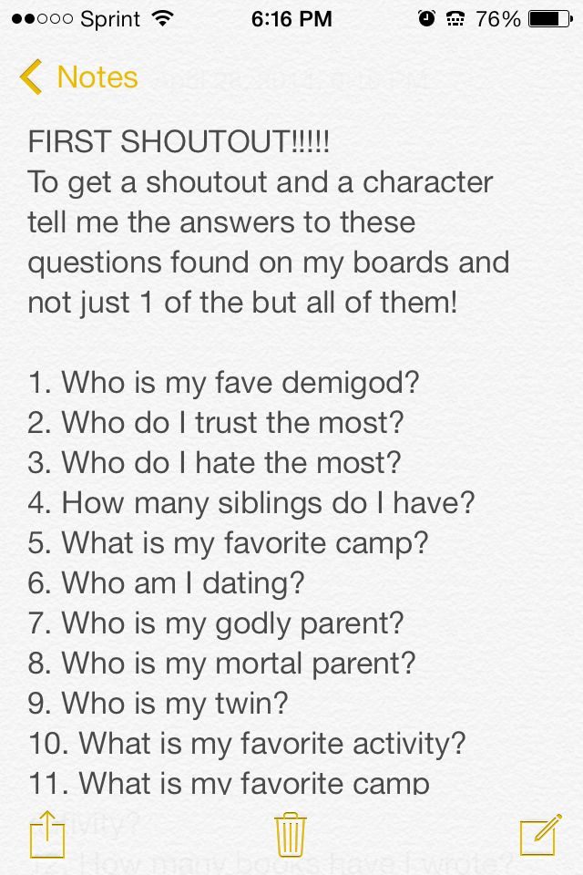 Rules~ Comment your answers I'll tell the winner on a post!  Pt. 1