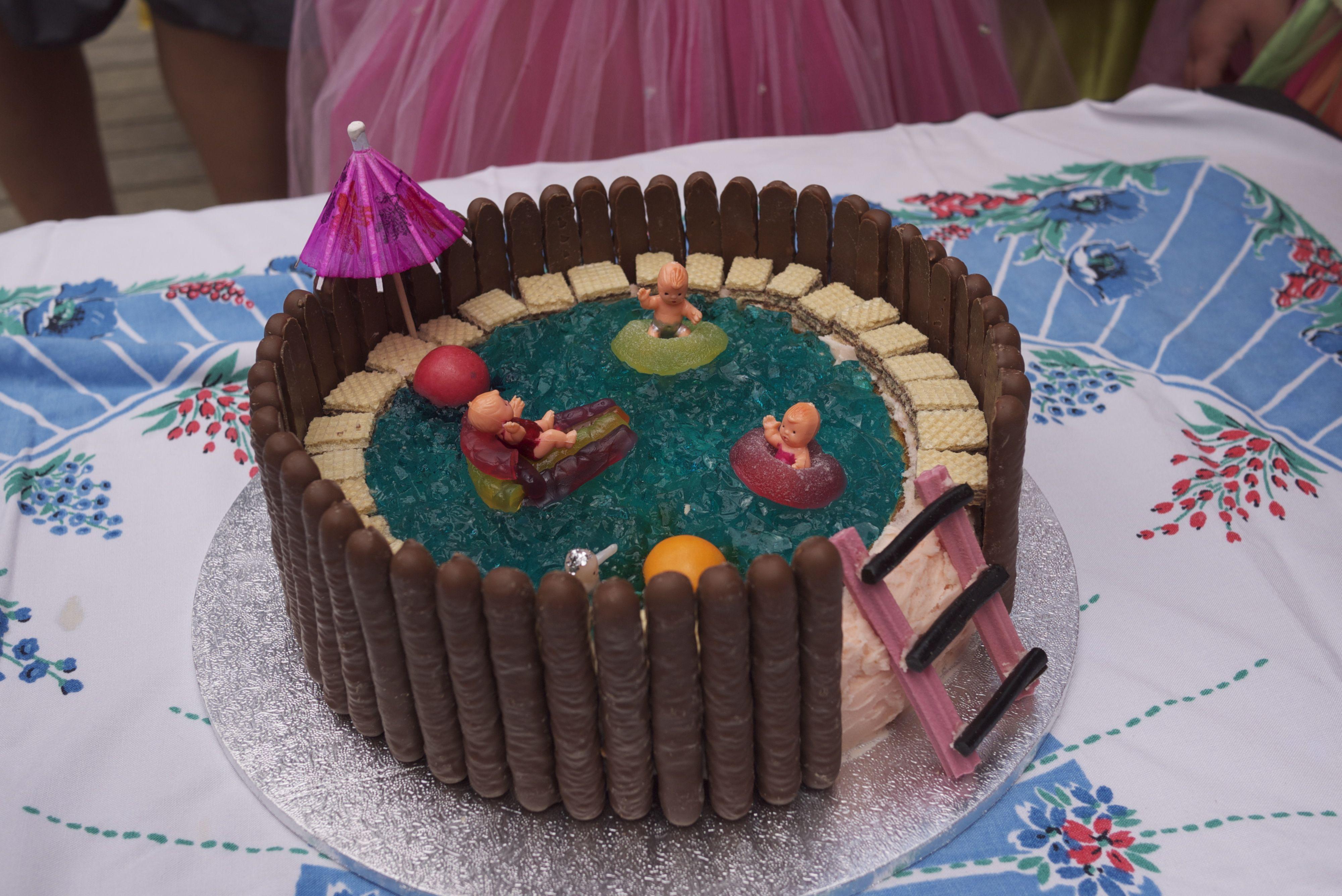 women's weekly pool cake Google Search Pool birthday