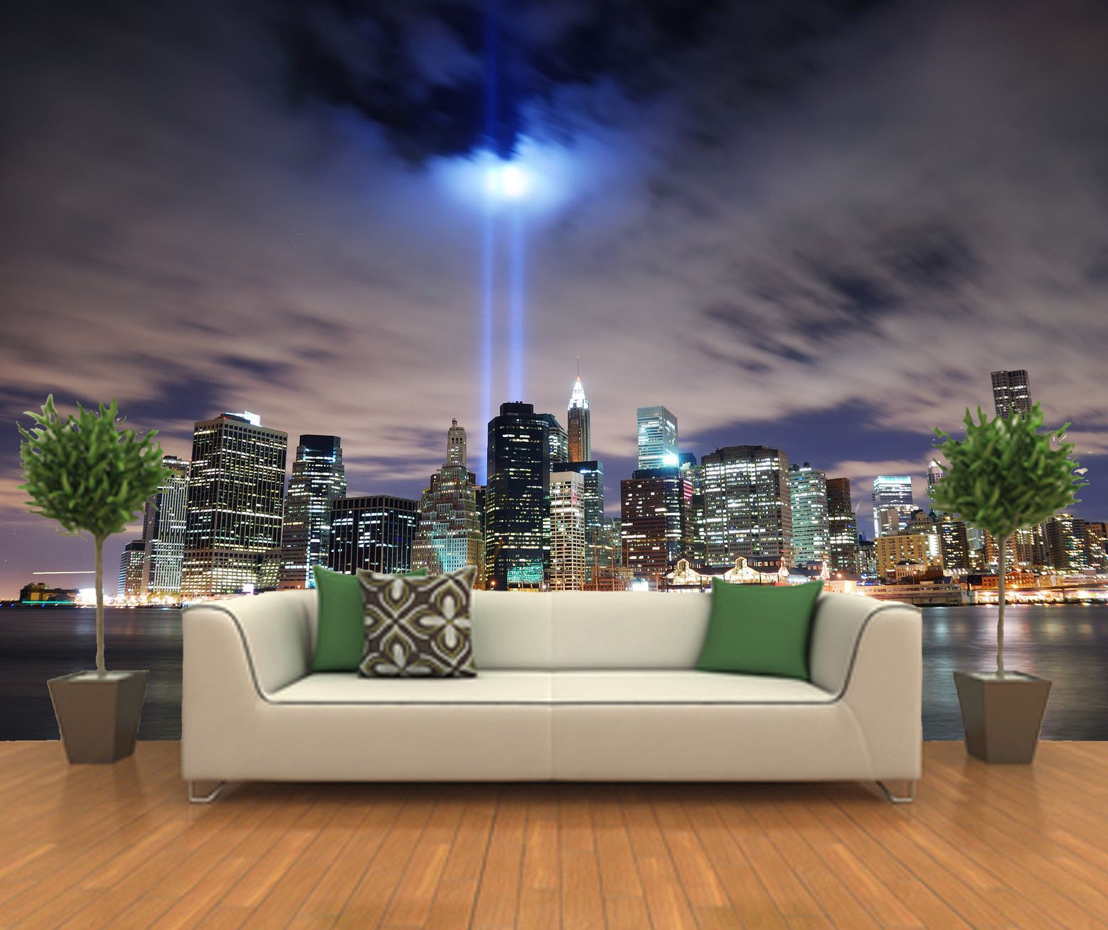 Attractive Peel And Stick Photo Wall Mural Decor Wallpapers New York Skyline Art  Tropical Escape Photo Gallery