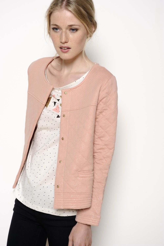 Veste Holie tomette 80% coton 20% polyester - manteau Femme - Des Capsule  Wardrobe f29fcd2b5d6c