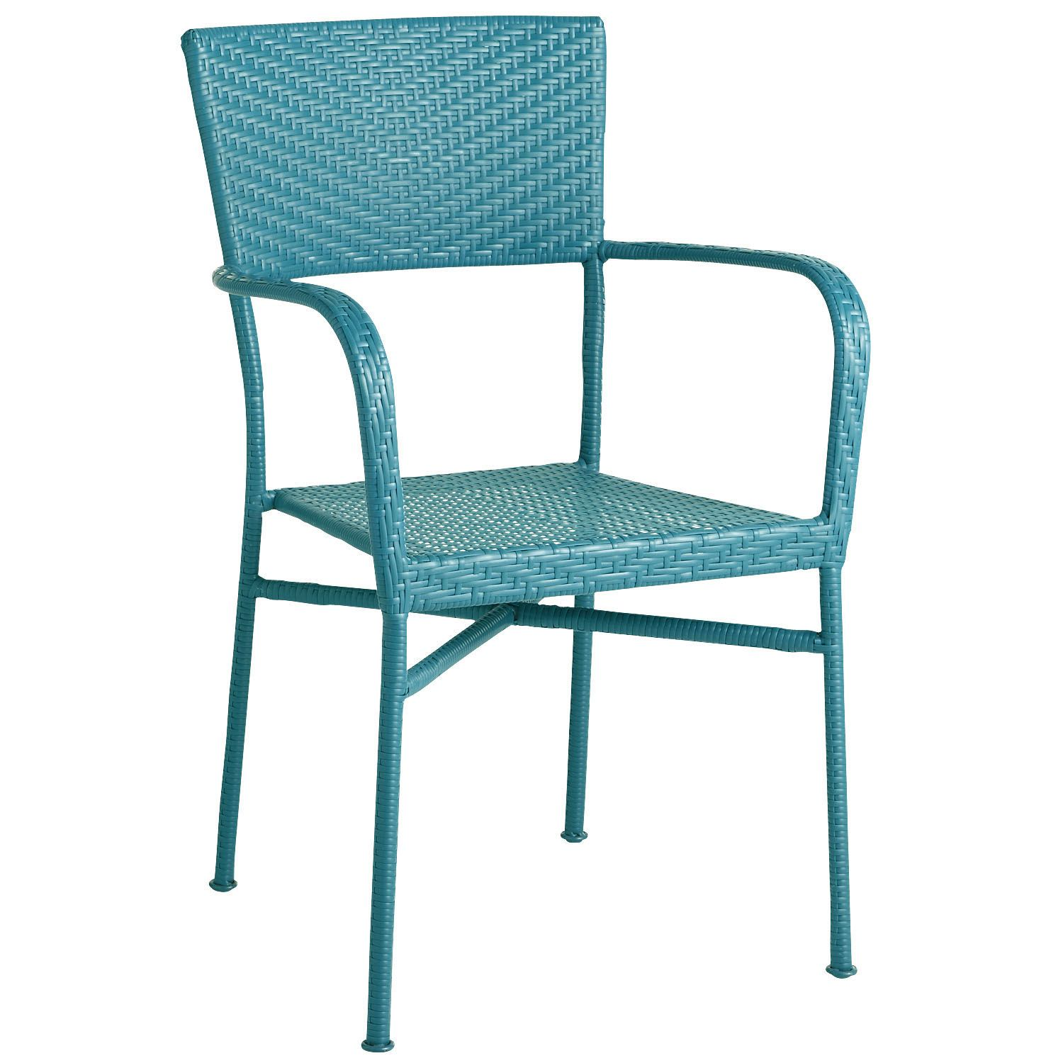 Pier One Stacking Armchair Blue Easy To Move Inside For