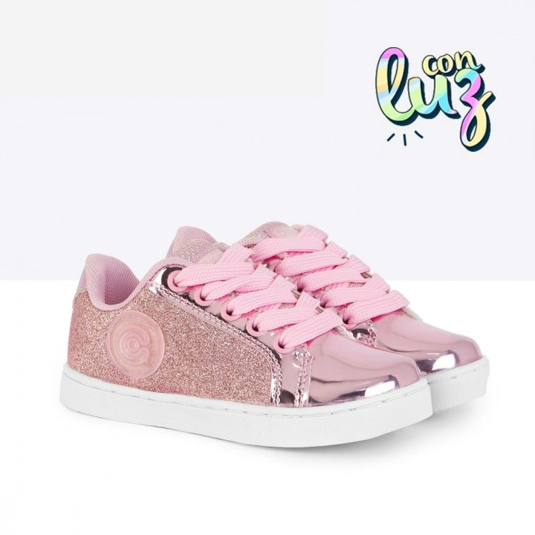 3c885458490 Zapatillas con Luces de Niña Glitter Rosa - Calzado - Niña - Conguitos   conguitos  niña  shoes  collection  ss18  zapatillas  luces  glitter  rosa
