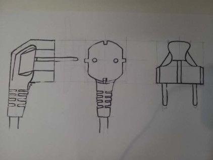 Como Hacer Un Enchufe Dibujar Objetos Enchufe Dibujos