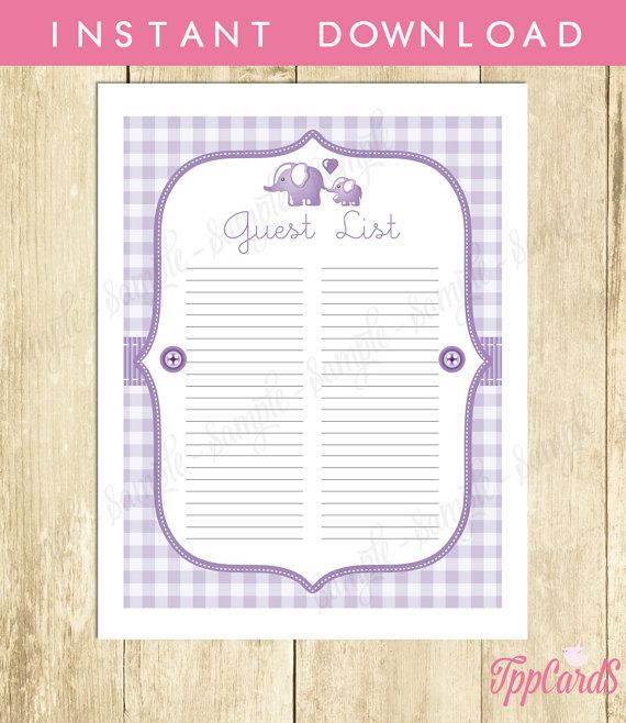 picture regarding Baby Shower Sign in Sheet Printable identify little one shower visitor signal within sheet -