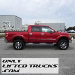 2010 ford f 150 lariat tuscany badlander lifted truck - Red Ford F150 Lifted