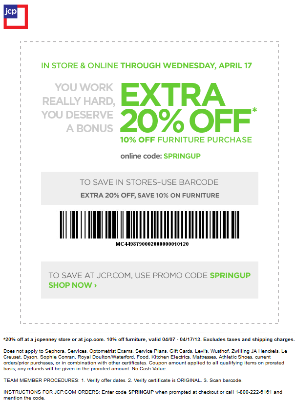 Pinned April 8th Extra 20 Off At Jcpenney Or Online Via Promo Code Springup Coupon Via The Coupons App Jcpenney Coupons Coupon Apps Online Coding