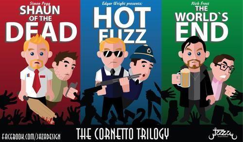 Cornetto Trilogy Fan Art Geek Culture