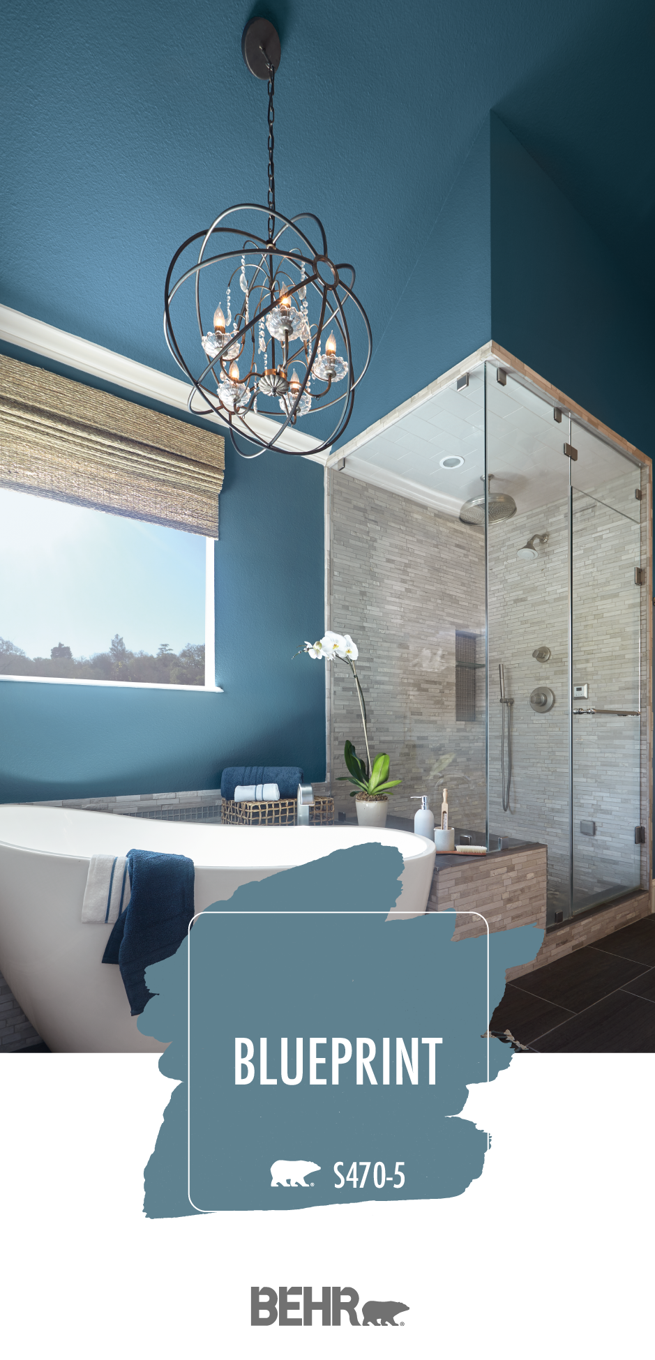 Kick back and relax in the bathroom of your dreams with - Behr color of the year ...